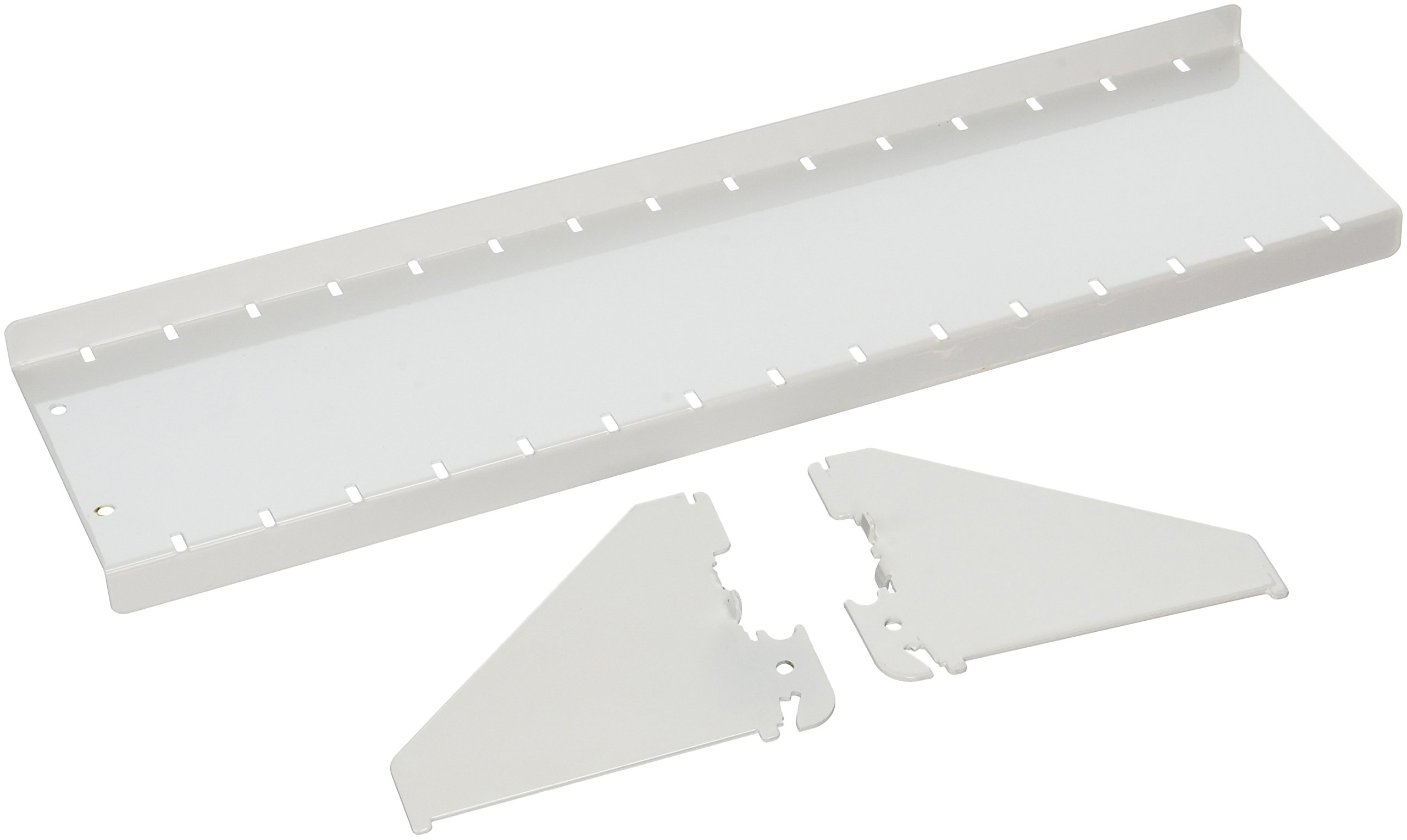 Wall Control ASM-SH-1604 W 4'' Deep Pegboard Shelf Assembly for Wall Control Pegboard Only, White
