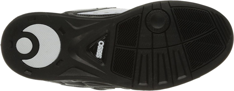 Osiris Peril, Chaussures de skateboard homme Noir Blanc Noir