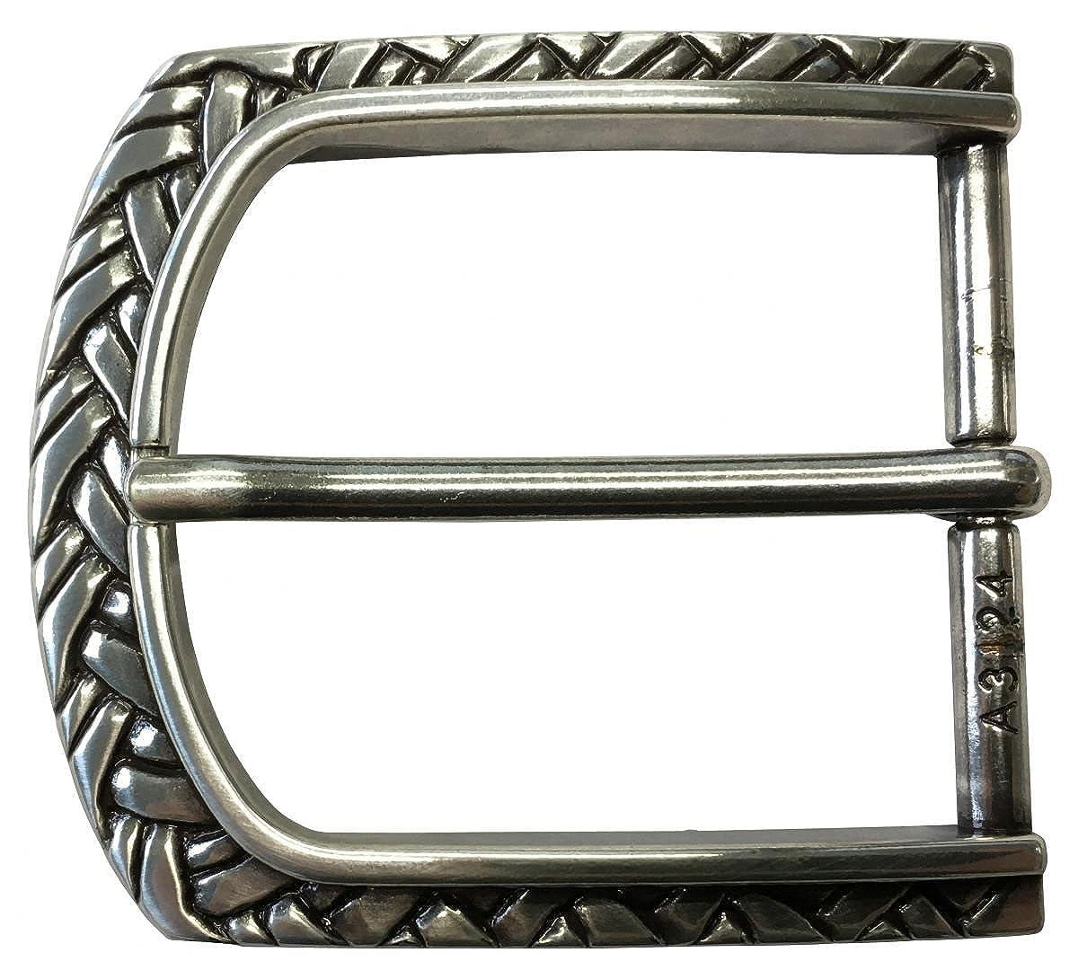 Brazil Lederwaren Gü rtelschließ e Braid 4, 0 cm