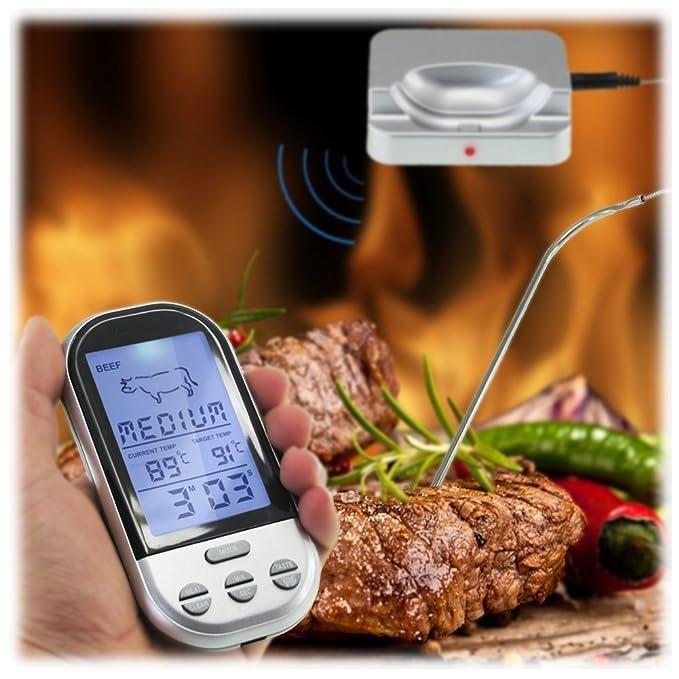 5 opinioni per MAIKEHIGH termometro da cucina Telecomando Wireless per Barbecue con termometro