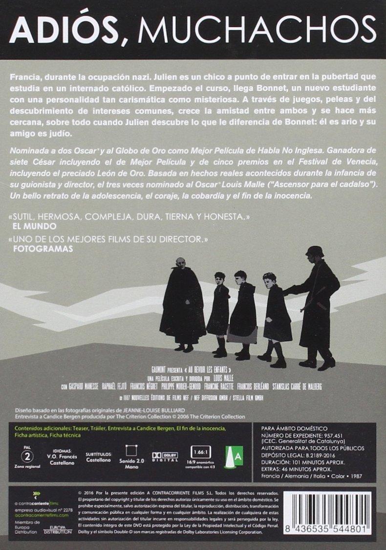 Amazon.com: Au Revoir Les Enfants - Adios Muchachos [Non-usa Format: Pal -Import- Spain]: Movies & TV