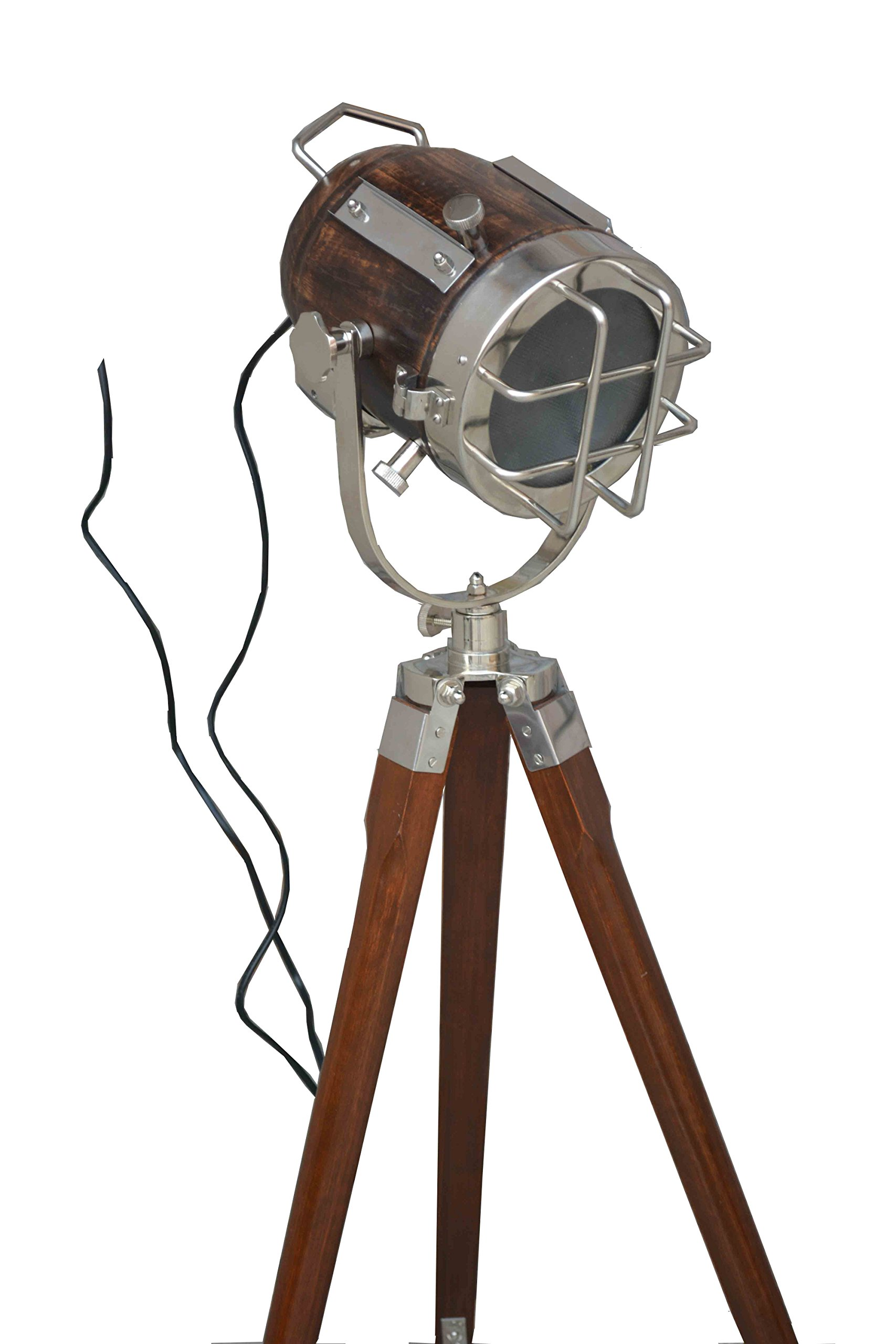 DESIGNER STUDIO FLOOR LAMP TRIPOD SEARCHLIGHT HOME DECOR LIGHT by Nautical India (Image #3)