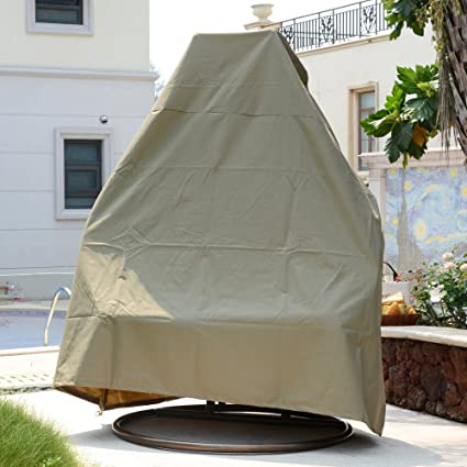Patio Cover With Tie For Island Gale Luxury 2 Person Swing Chair   Premium  Heavy Duty
