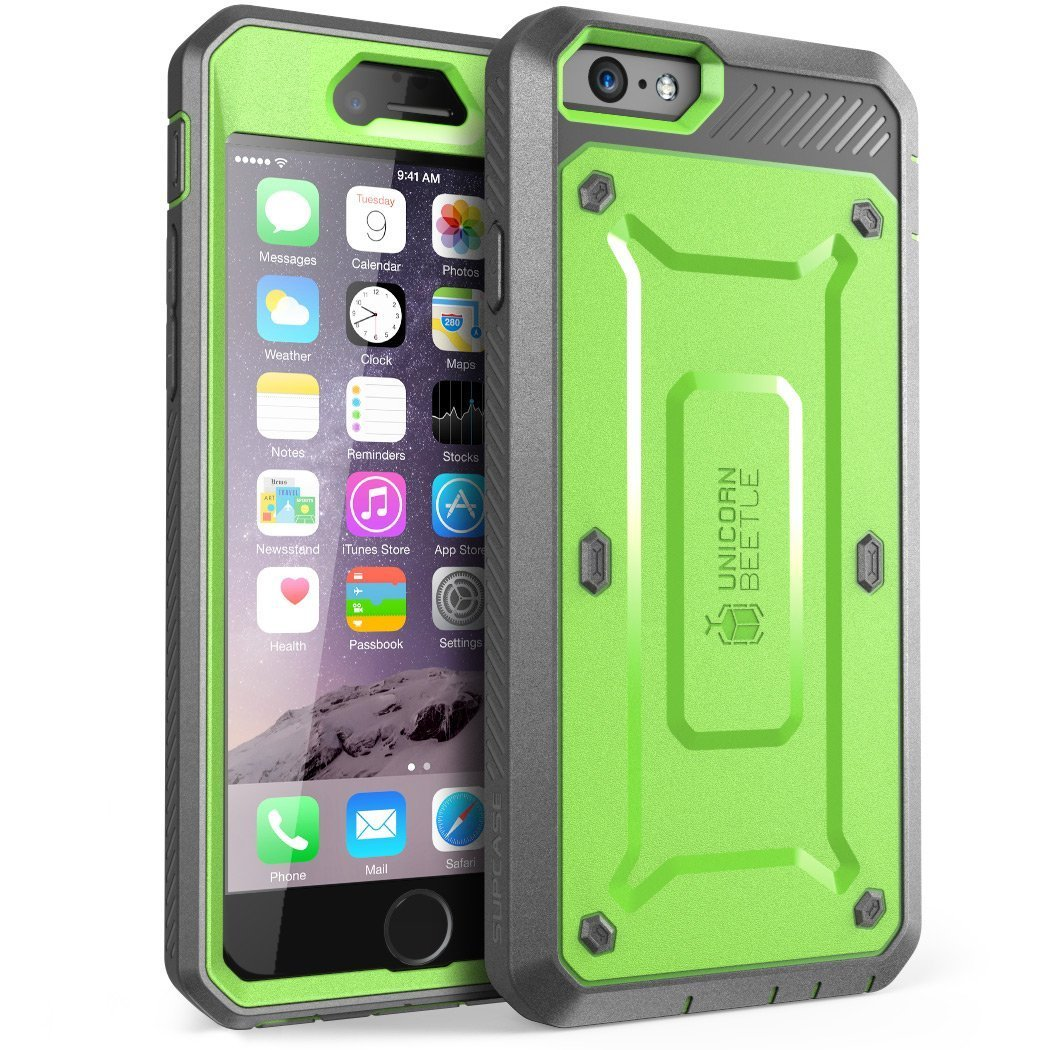 iPhone 6S Case, SUPCASE Apple IPhone 6 Case / 6S 4.7 Inch [Unicorn Beetle Pro] Rugged Holster Cover with Builtin Screen Protector (White/Gray) iPhone6-4.7-BeetlePro-White/G