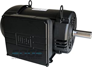 NEW WEG INDUSTRIAL GRADE 7.5HP COMPRESSOR DUTY MOTOR, 230V, 1760RPM, 215T/213T FRAME, 1 3/8 SHAFT DIAMETER, 31.3 FLA