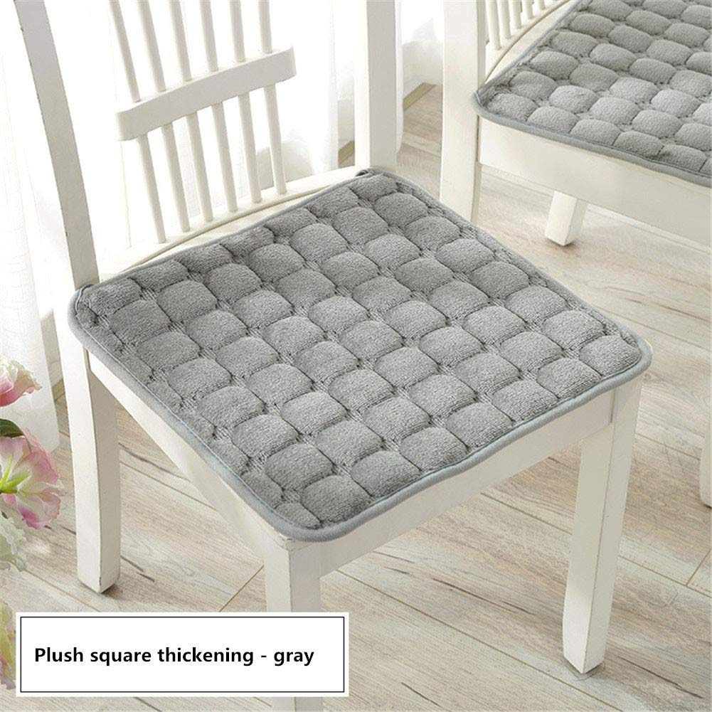YDMR Set of 3 Square chair pads kitchen chairs Plush garden chair seat pads  Non-slip outdoor seat pads Solid color chair