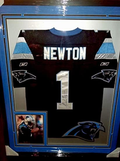 new product f75cd 4acc7 Autographed Cam Newton Jersey - custom Framed 34x42 - JSA ...
