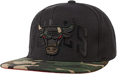 Mitchell & Ness Gorra Camo Brim Bulls by baseballNBA Cap (Talla ...