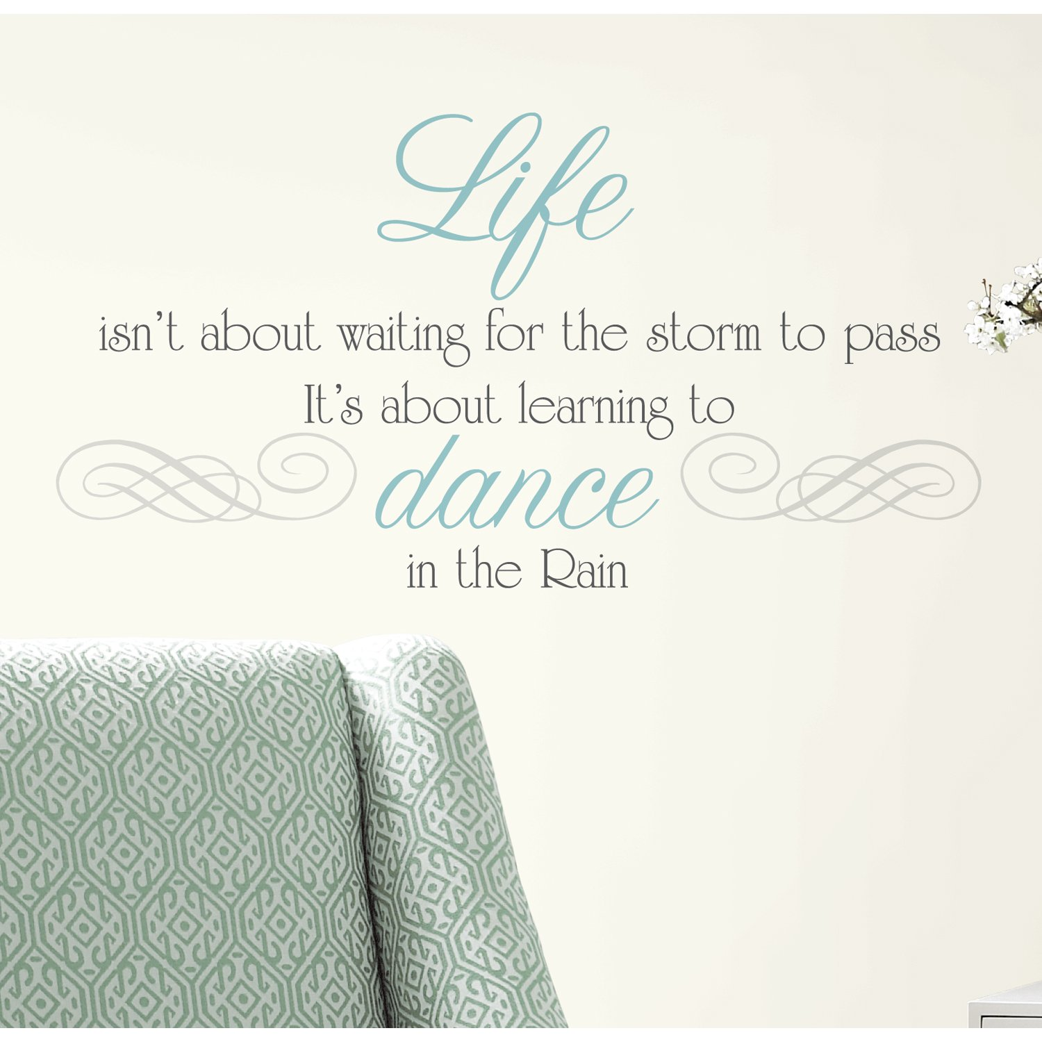 Wayfair 10 off first order - Roommates Rmk2029scs Dance In The Rain Quote Peel And Stick Wall Decals Decorative Wall Appliques Amazon Com