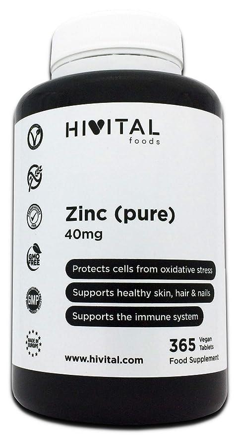 Zinc puro 40 mg procedente de Gluconato de Zinc | 365 comprimidos (Suministro anual)