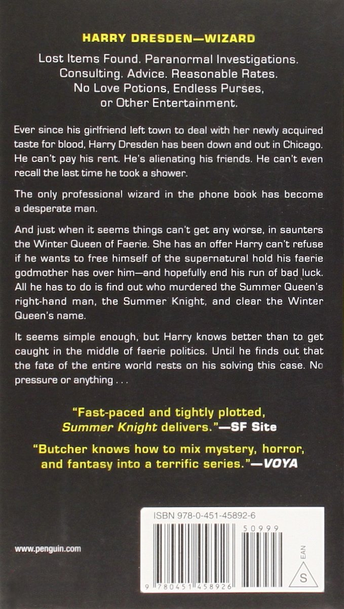 Amazon: Summer Knight (dresden Files) (9780451458926): Jim Butcher:  Books