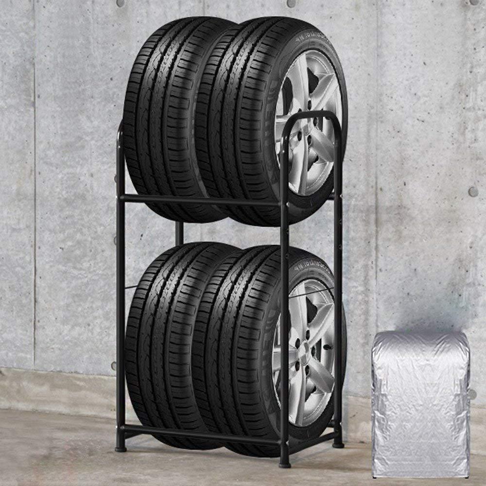 56 * 41 * 101 cm SAILUN Cremagliera del pneumatico 56 x 41 x 101 cm supporto per pneumatici per 4 ruote scaffali di stoccaggio scaffale per officina scaffale per ripiani pesanti