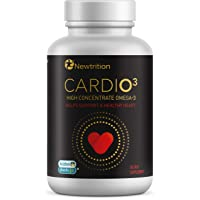 CARDIO3 by Newtrition Once a Day Omega-3 Fish Oil Supplement Burp-Less 1200mg 500mg...