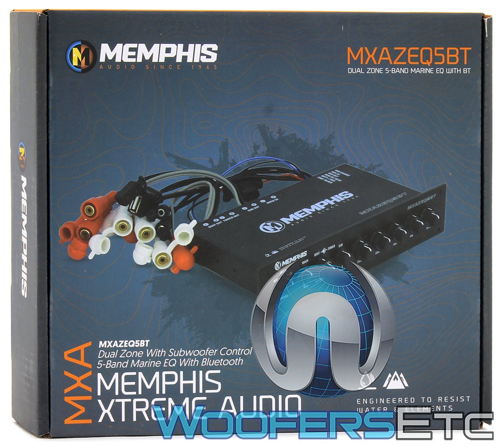 Memphis MXAZEQ5BT 5-Band Marine Equalizer with Bluetooth by Memphis (Image #5)