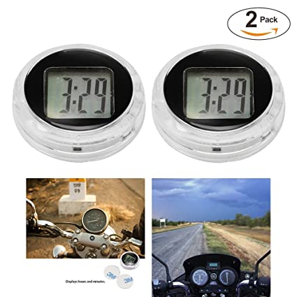 Amazon.com: Universal Mini Motorcycle Clock Watch Waterproof Stick-On Motorbike Digital Clock Dia. 1.1
