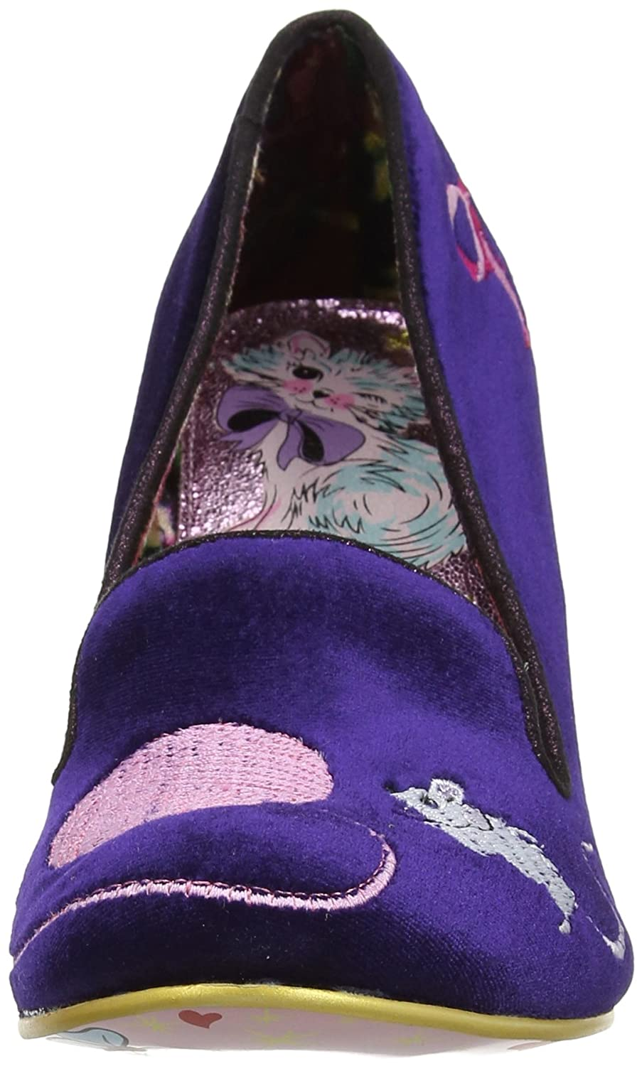 Irregular Choice Fuzzy Peg Escarpins Bout ferm/é Femme