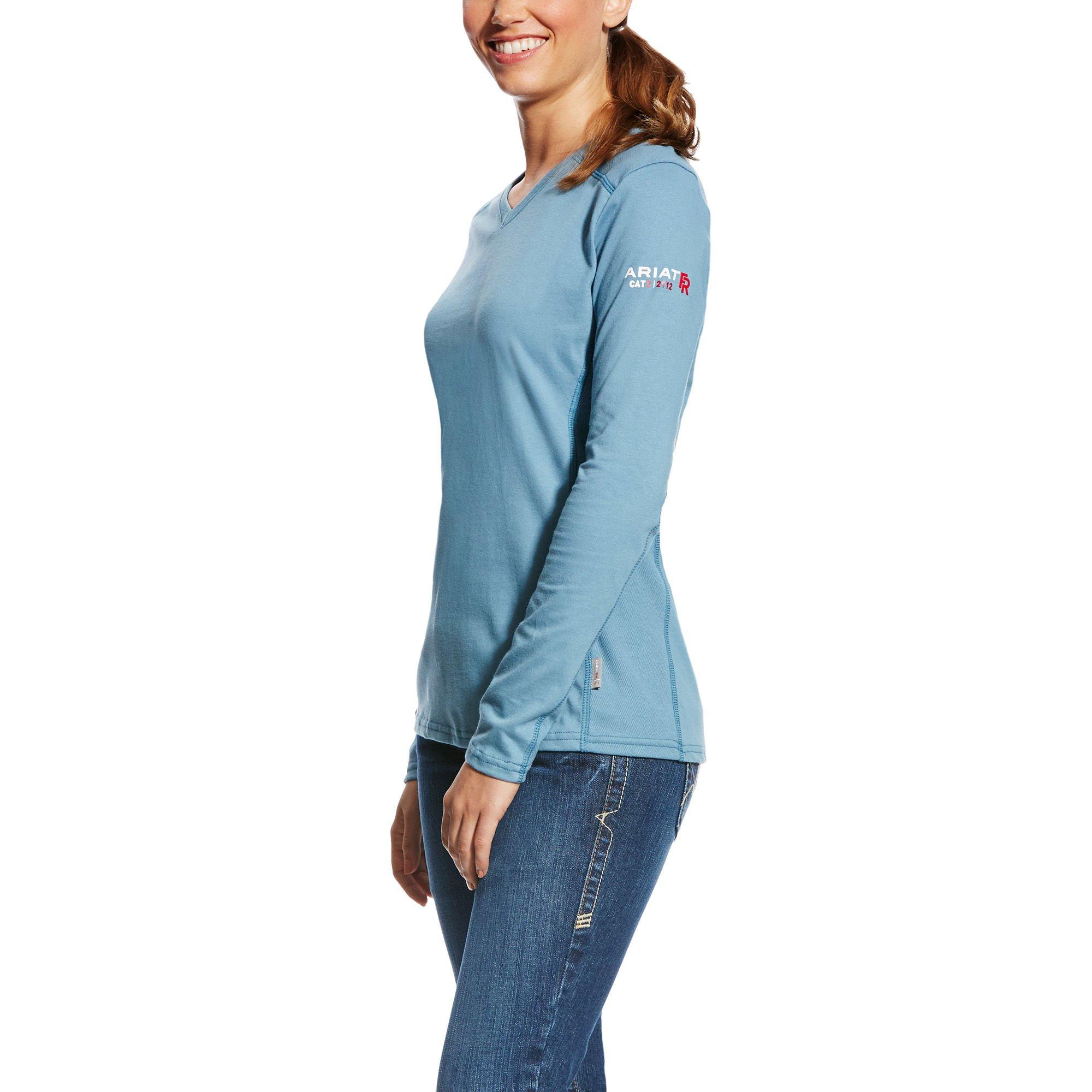 Ariat Women's Flame Resistant Ac Top, Blue, XL