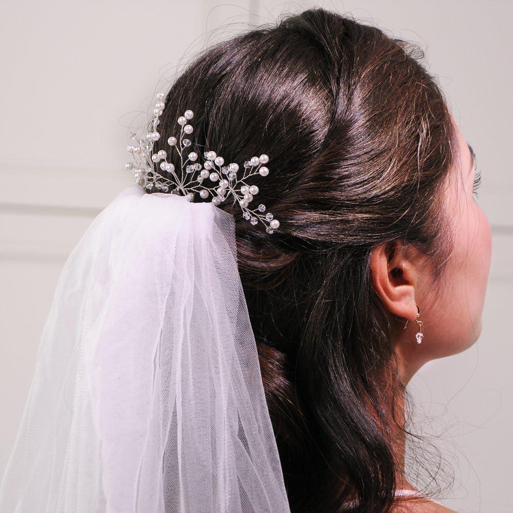 ULAPAN Wedding Hairpin Wedding Hairpiece Crystal Bridal Hairpin Headband Wedding Headwear