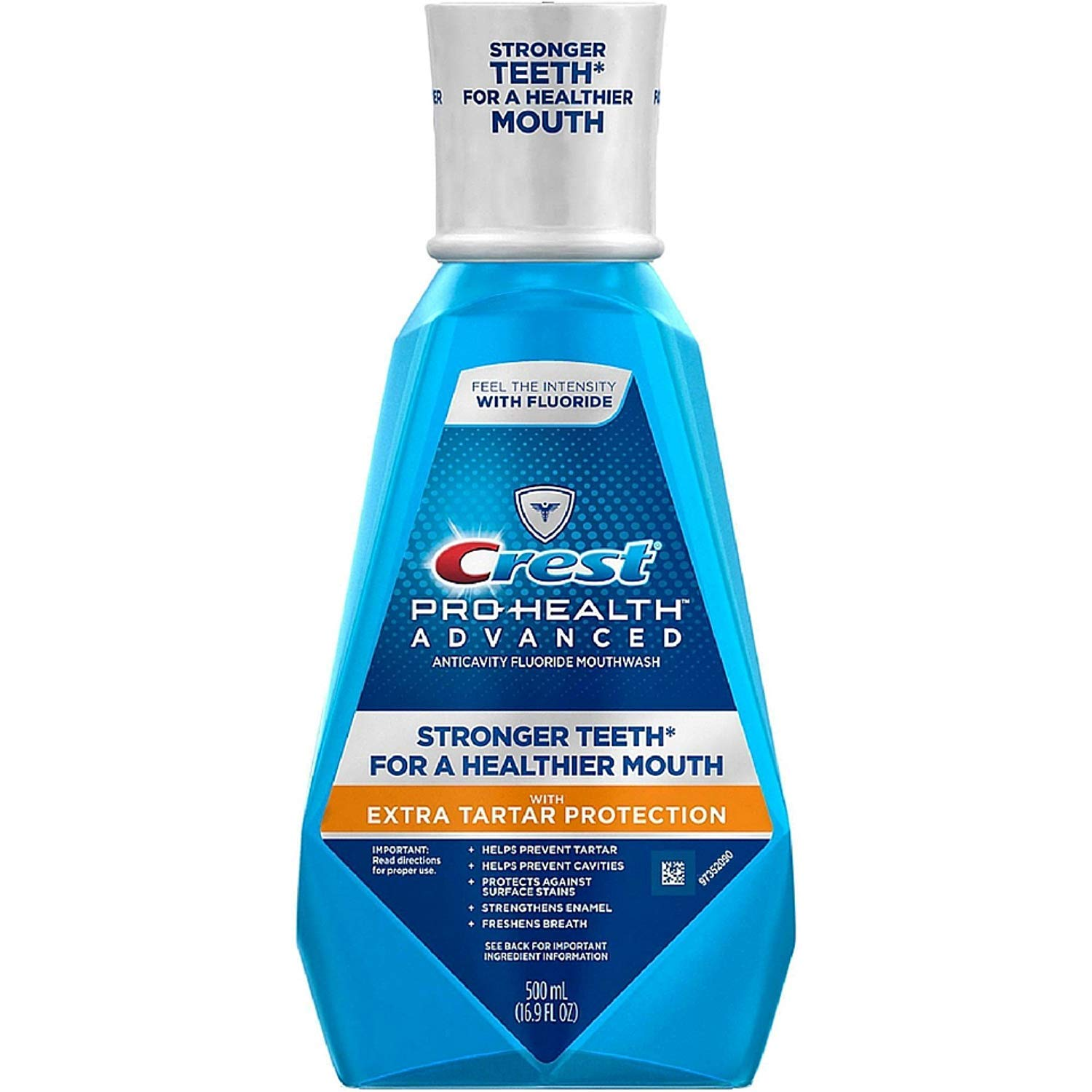 Crest Pro-Health Advanced Mouthwash with Extra Tartar Protection, Refreshing Mint 16.90 oz (Pack of 2)