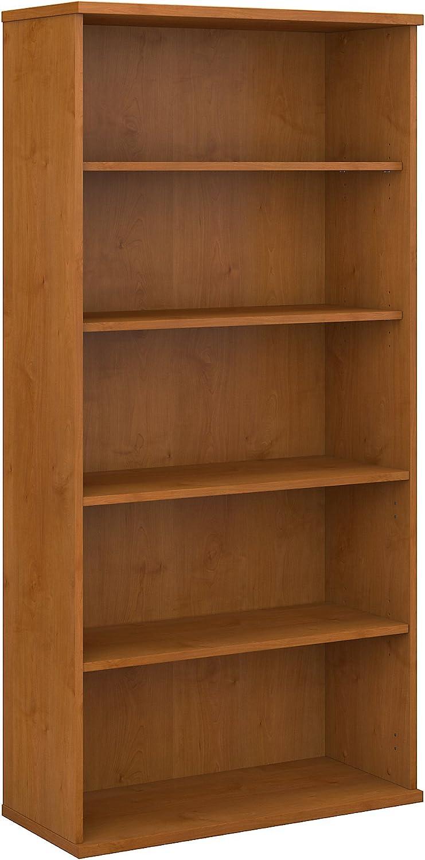 Bush Business Furniture Series C 36W 5 Shelf Bookcase, Natural Cherry