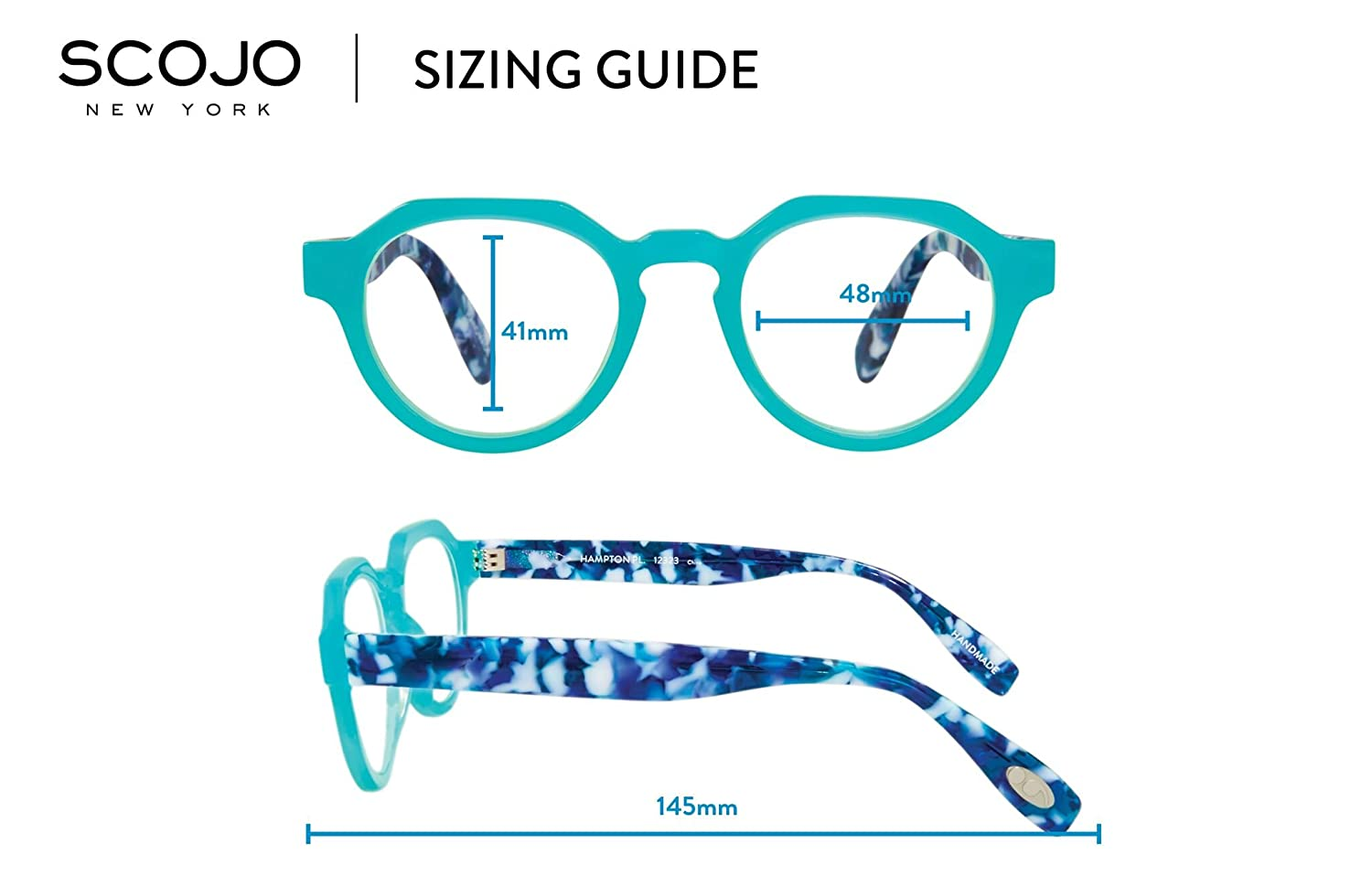 cd930785a2 Amazon.com  Hampton Place - Round Trendy Fashion Reading Glasses for Men  and Women - Bahama Blue (+1.00 Magnification Power)  Clothing