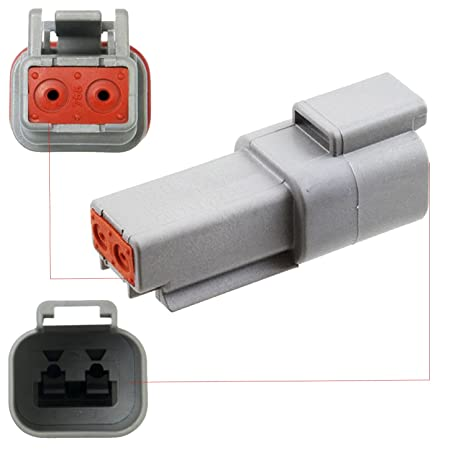Range: 2.41-3.81 Connector Kit with Housing Recommended Insulation O.D Deutsch 2-Pin 3 Completed Set TE Connectivity // DEUTSCH Pins /& Seals Crimp Style Terminals 14-16 Gauge mm