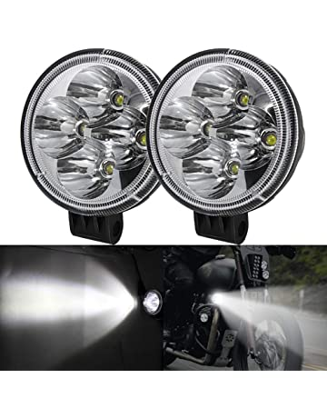 Motorcycle Driving Lights, 12W Round Led Work Light Automotive Motorcycle Fog Lights Spot Off-