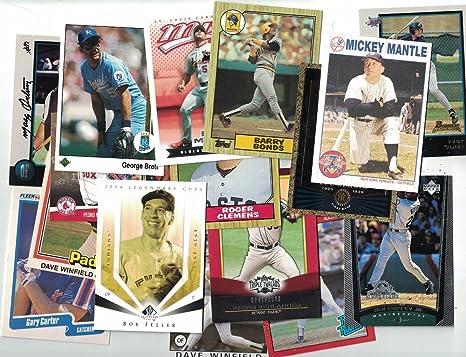 Amazoncom 200 Baseball Cards Collection Newer Vintage
