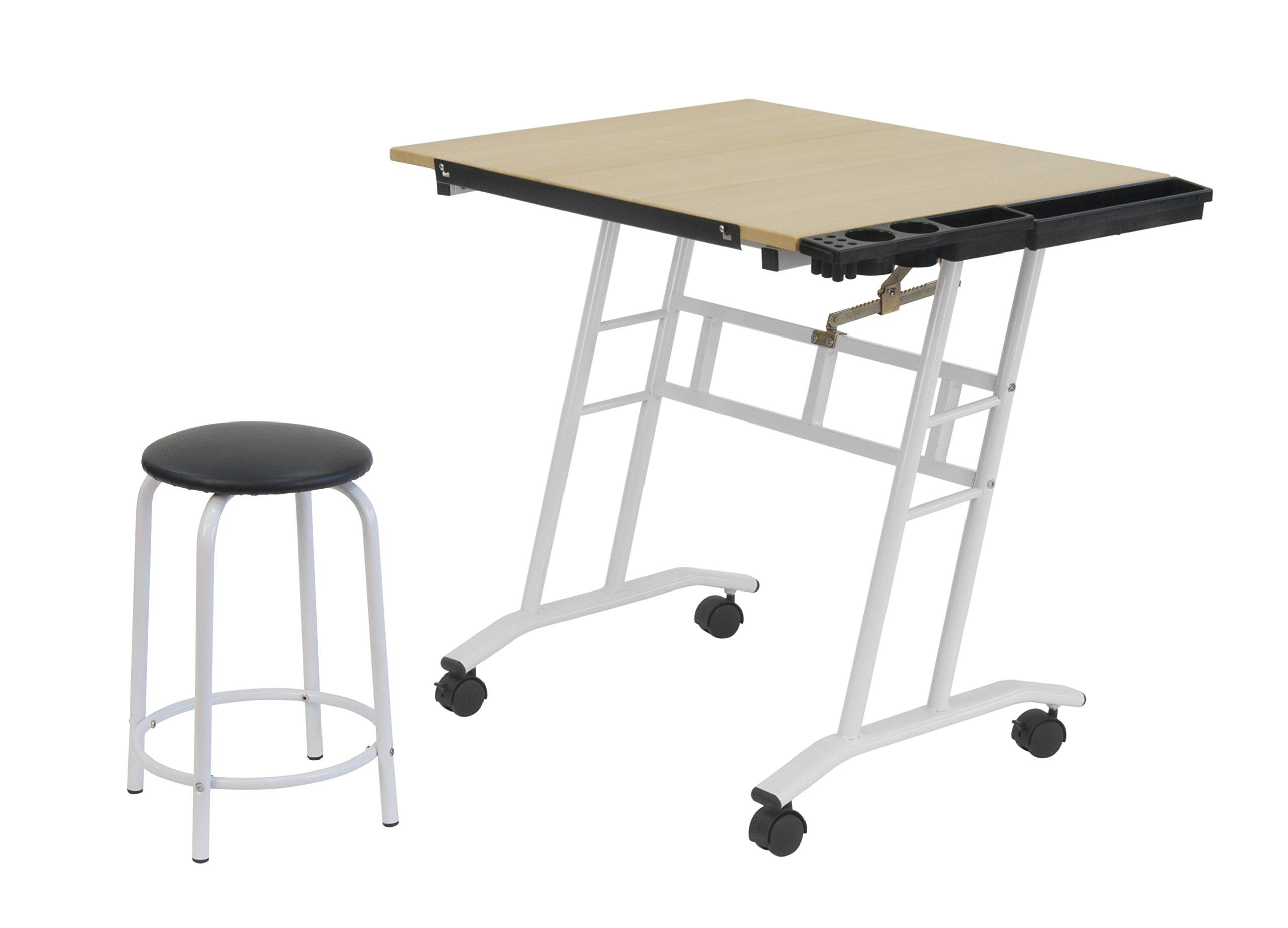 Studio Designs 13240 Craft Center, White/Maple by SD STUDIO DESIGNS