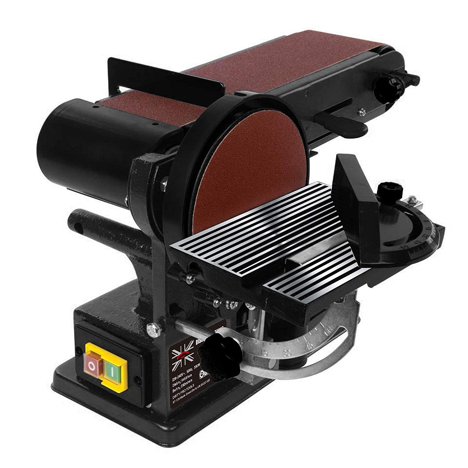 Superb Powerful 350W Bench Belt And Disc Sander 390Mm Sander Sanding Machost Co Dining Chair Design Ideas Machostcouk