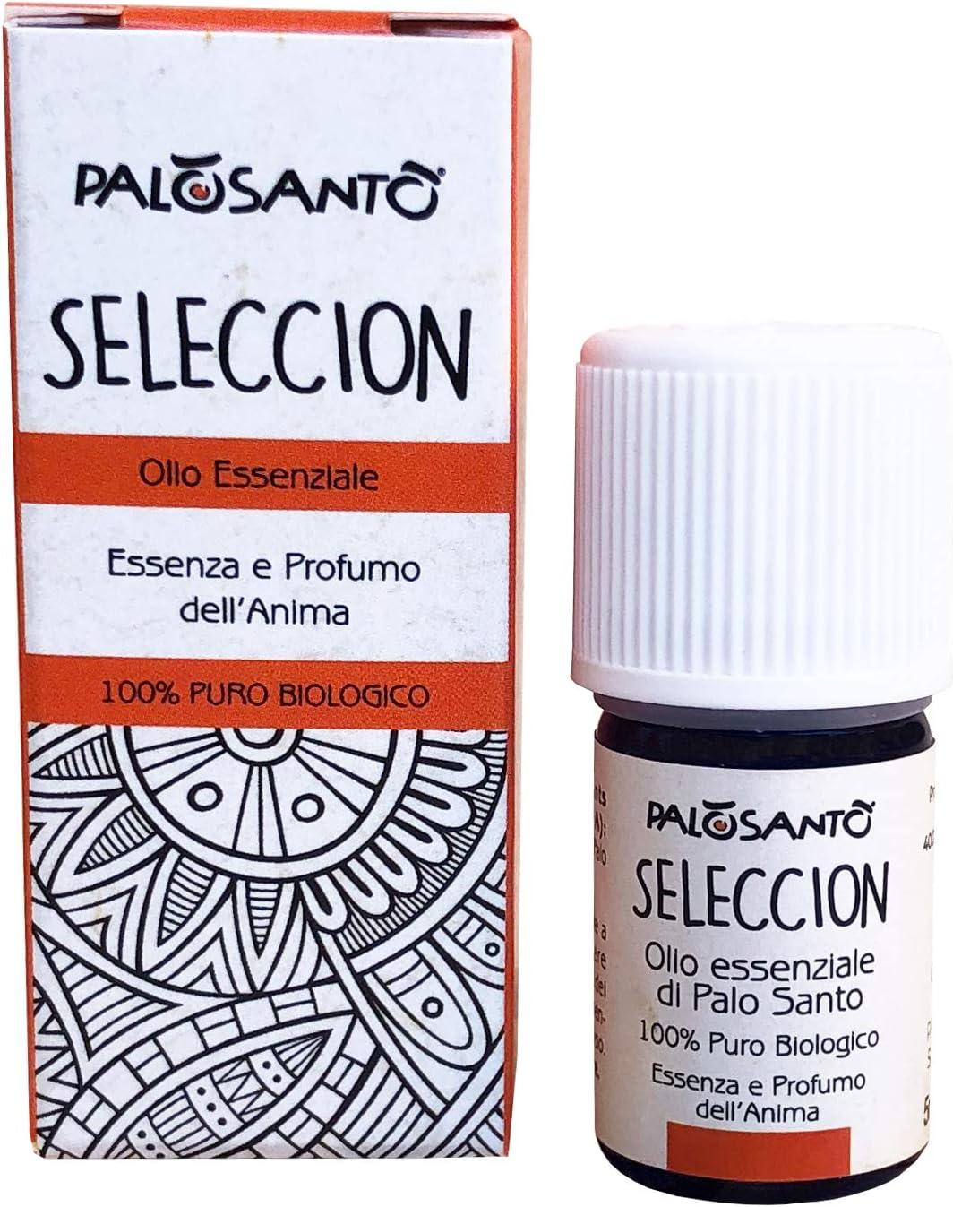 Aceite Esencial de Palo Santo Selecciòn - 5 ml - 100% puro, natural y artesanal - para masajes y vaporizadores - Bursera Graveolens de calidad chamánica - aroma bienestar