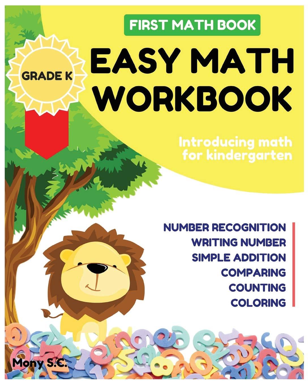 Easy Math Workbook for Kindergarten: First Math Book ; Grade ...
