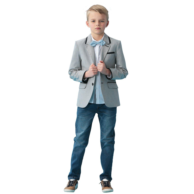 Leo&Lily Boys' Kids' Husky Rib Waist Stretch Denim Jeans Pants (10) by Leo&Lily (Image #4)