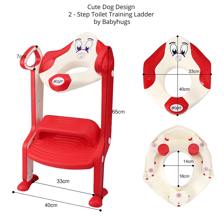 Inodoro de entrenamiento con pelda/ño para ni/ños peque/ños azul Dog Ladder Gotobuy Blue