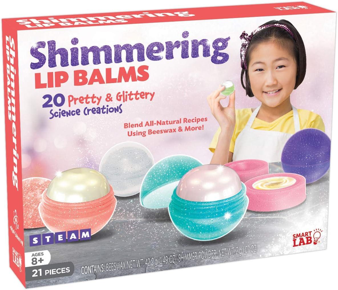 "SmartLab Toys Shimmering Lip Balm - 21 Pieces - 20 Recipes - 5 Lip Balm Pods, 11 1/4"" H x 8 1/2"" W x 2 1/4"" D"