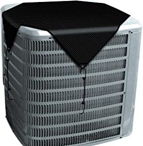 TANG Outside Winter AC Unit Top Cover 28'' x28'' with Bungee Cords Premium Sturdy Air Conditioner Cover for Keeping Out Snow Leaves