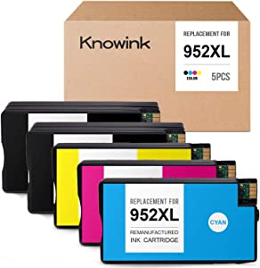 Knowink Remanufactured Ink Cartridge Replacement for HP 952XL 952 XL 952 Ink Work with HP OfficeJet Pro 8730 8725 8720 8715 8710 8216 8702 8210 7740 7720 Printer, 5-Pack