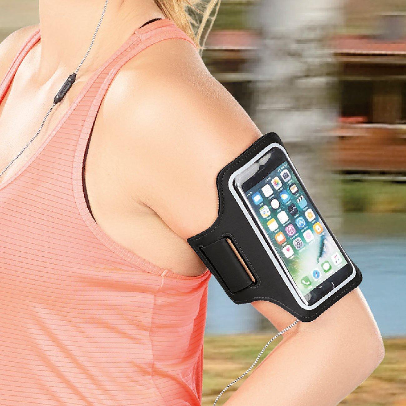 Sport-Armband-Tasche f/ür Smartphones /& iPhones bis 5,5 PEARL Sports Handy Armband schwei/ßfest Handy Arm