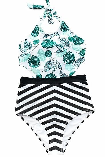 e3c84d01a513a CUPSHE Women's Sunny Summer Print One-Piece Swimsuit Beach Swimwear Bathing  Suit