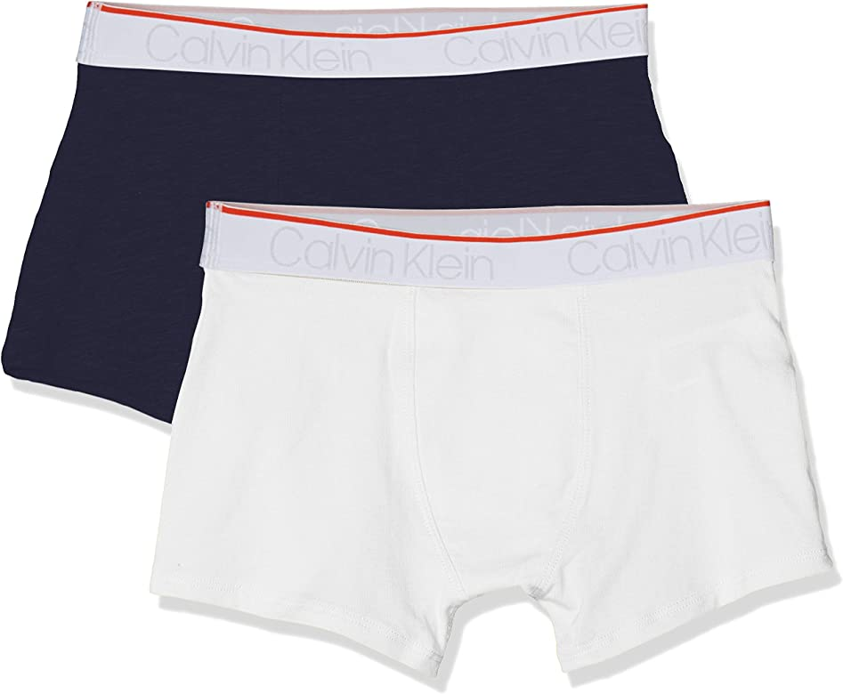 Calvin Klein 2pk Trunks Calzoncillos, Blanco (1white/1blueshadow1 ...
