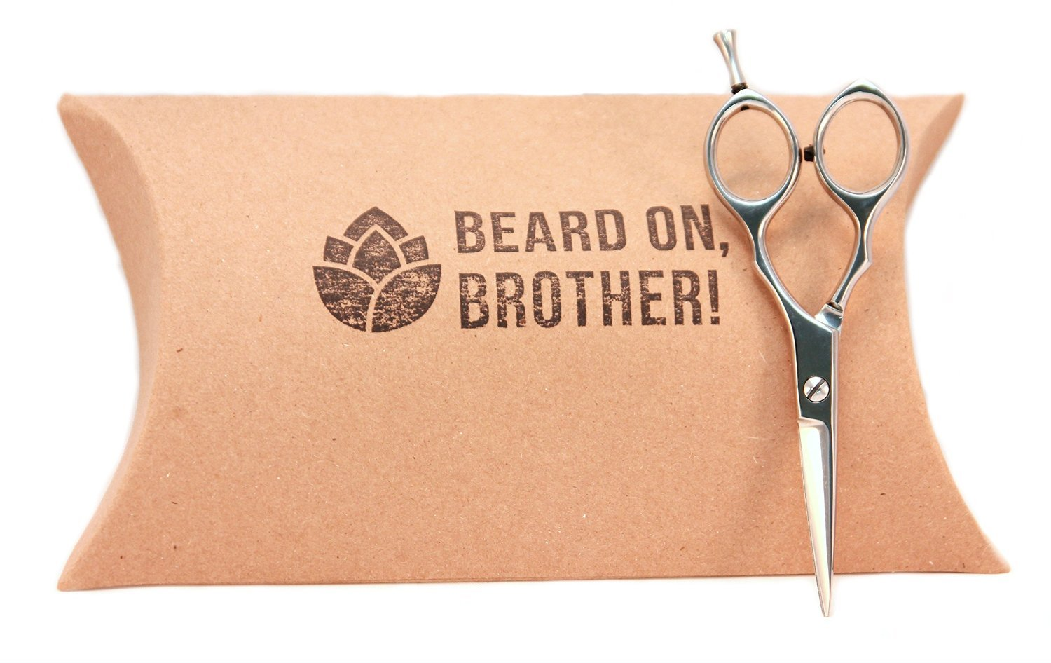 Professional Stainless Steel 5.5 Mens Mustache and Beard Grooming Scissors by Craft Beard | Ultimate Precision and Trimming Scissors to Target Individual Hairs | Included in our Beard Grooming Kits