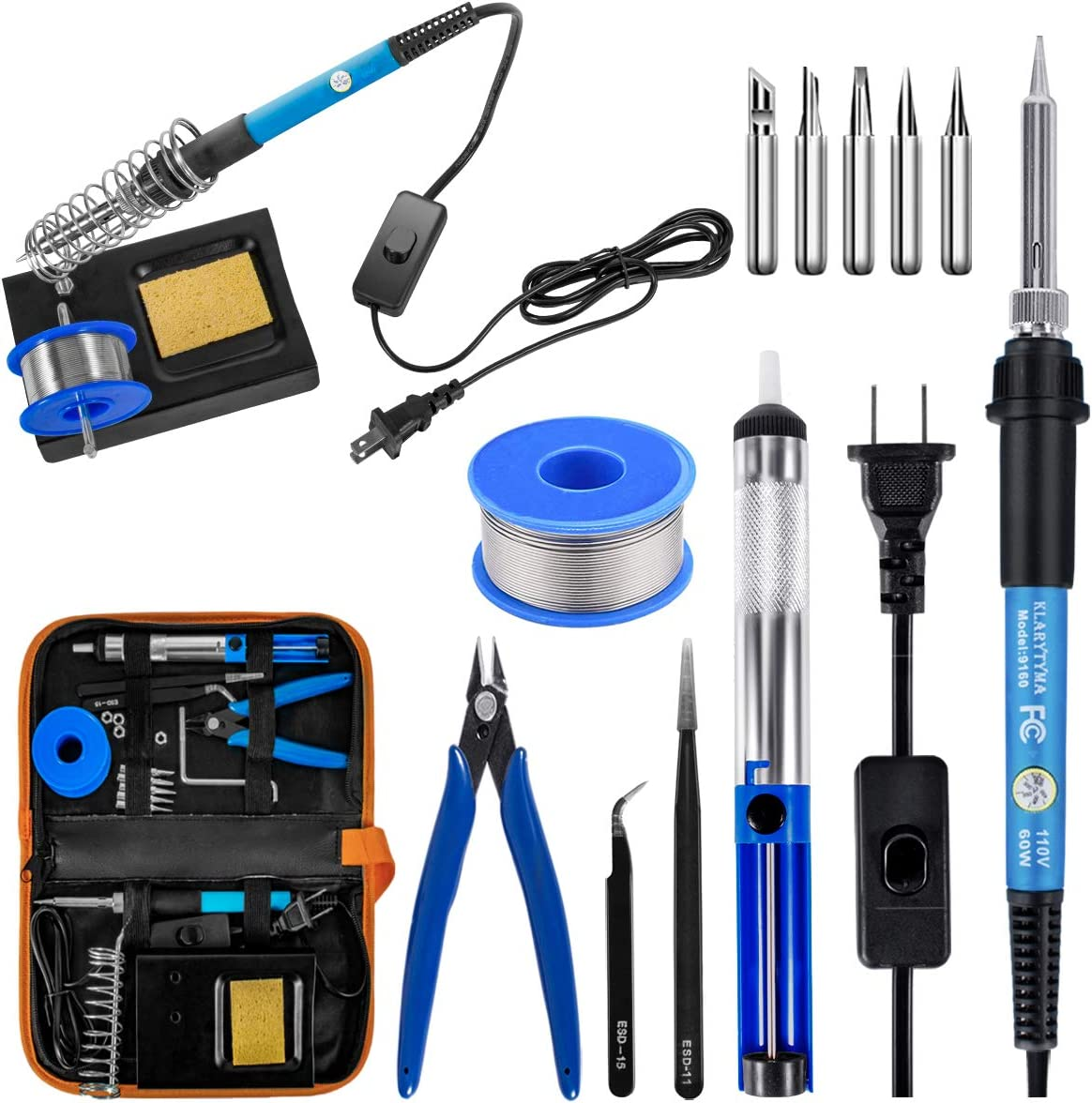 New PC PCB 60W 220V Soldering Welding Iron Tool Heat Pencil Electronic CA BR