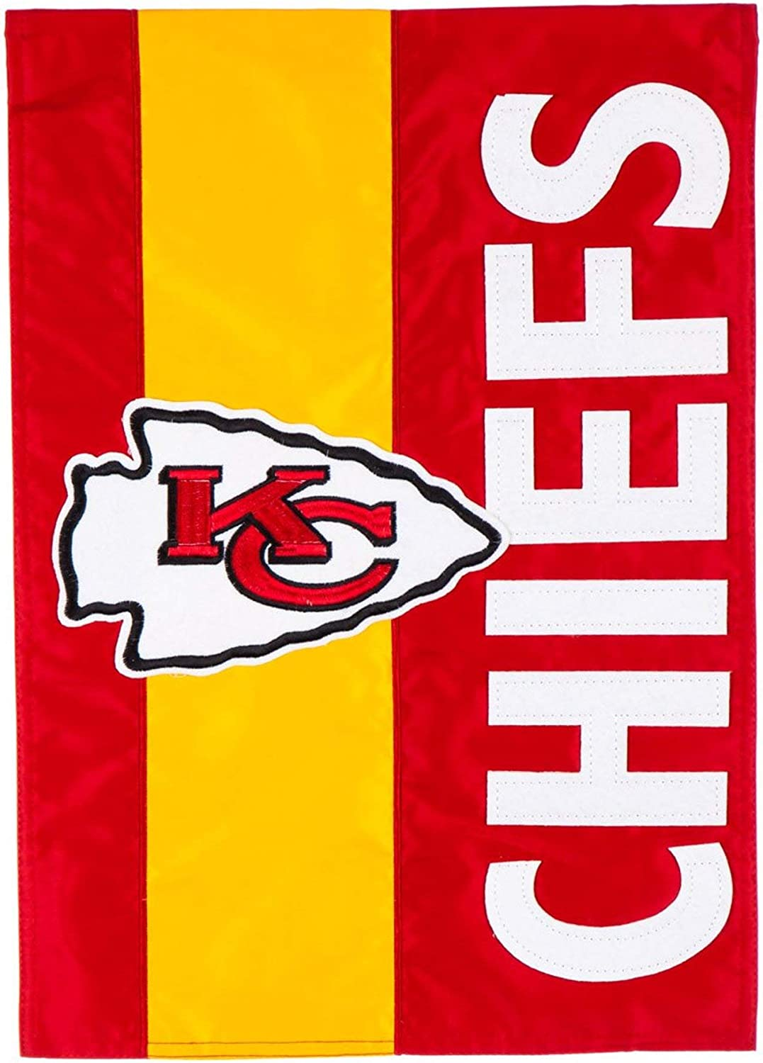 Rico Industries, Inc. Kansas City Chiefs Embellished Premium 2-Sided Garden Flag Applique Banner