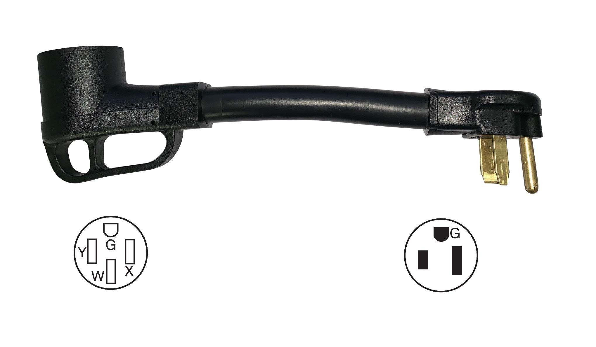 ONETAK NEMA 6-50P to 14-50R 240V 50 Amp Welder Welding Dryer EV Charger Power Cord Adapter Adaptor Connector Connecter by ONETAK