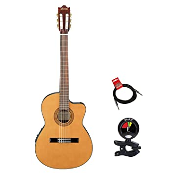 Ibanez GA5TCE-AM - Guitarra clásica acústica eléctrica en ámbar con ...