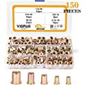 150-Piece VIGRUE Carbon Steel UNC Rivet Nuts Rivnuts Kit