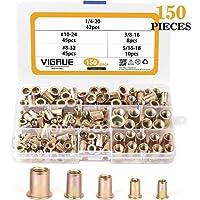 150-Piece VIGRUE Carbon Steel UNC Rivet Nuts Rivnuts Kit