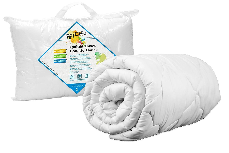 PatiChou Couette douce et chaude dhiver coton 100x140 cm pour lit b/éb/é et enfant 60x120 cm