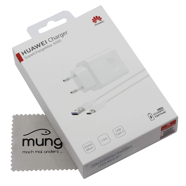 Cargador para Huawei CP84 Original 4A 40W para Huawei P30, P30 Pro, P30 Lite, Mate 20, Mate 20 Pro, Mate 20 Lite, Cable de Carga rápido, Fuente de ...