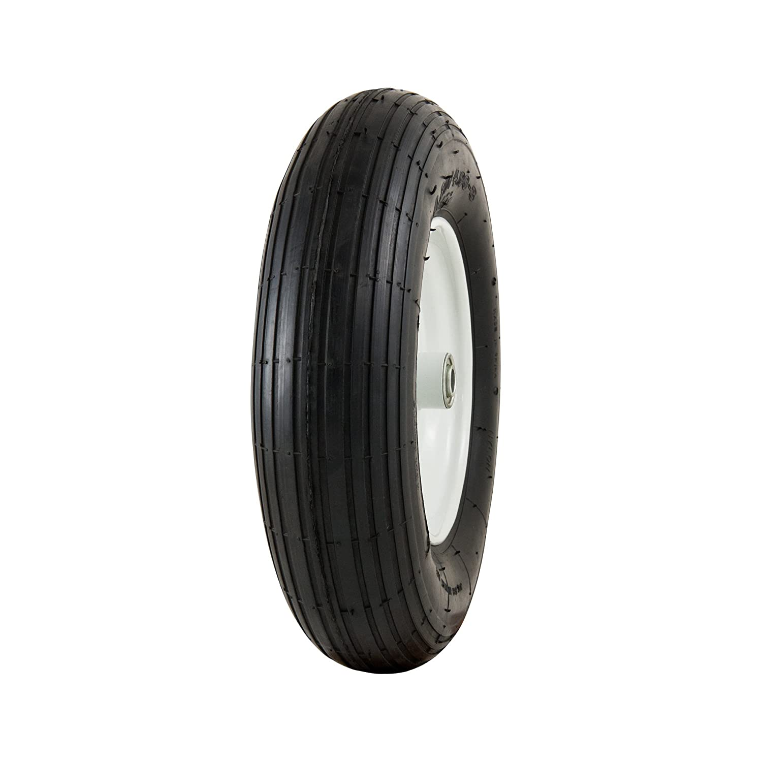 "Marathon 4.80/4.00-8"" Pneumatic (Air-Filled) Tire on Wheel, 3"" Hub, 5/8"" Bearings"
